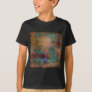 Bronze, Teal, Purple Abstract T-Shirt