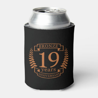 Bronze traditional wedding anniversary 19 years can cooler