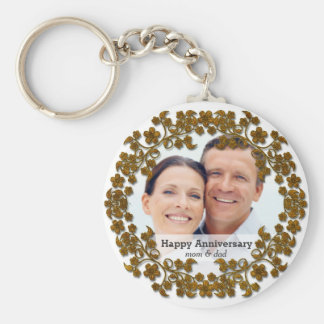 Bronze wedding anniversary with a photo key ring