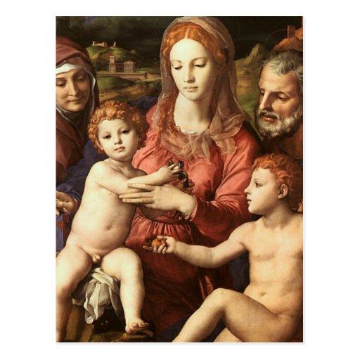 Bronzino - Holy Family Postcard