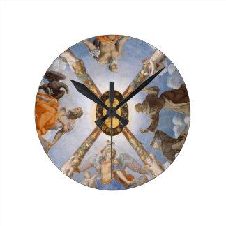 Bronzino Italian Art Chapel Ceiling Round Clock