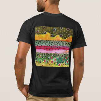 Brook, Rainbow, Brown Trout Skins T-Shirt