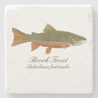Brook Trout Coaster Stone Beverage Coaster