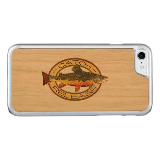Brook Trout Fishing C and R Carved iPhone 8/7 Case