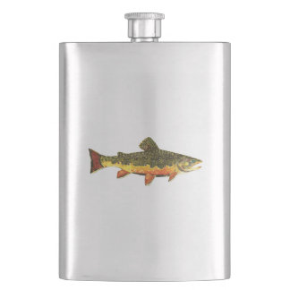 Brook Trout Fishing Hip Flasks