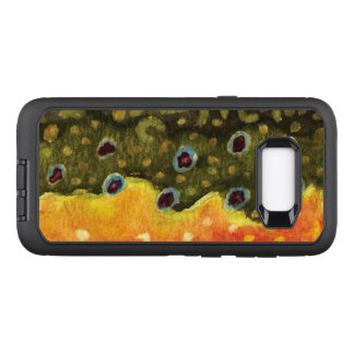 Brook Trout Fly Fisherman, Ichthyologist OtterBox Defender Samsung Galaxy S8+ Case