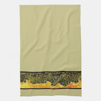 Brook Trout Fly Fishing Angler's Tea Towel