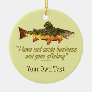 Brook Trout Fly Fishing Fisherman's Ceramic Ornament