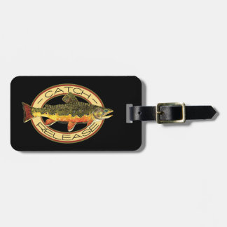 Brook Trout Fly Fishing Luggage Tag