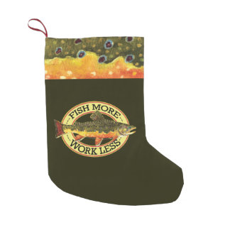Brook Trout Fly Fishing Small Christmas Stocking