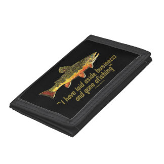 Brook Trout Fly Fishing Tri-fold Wallet