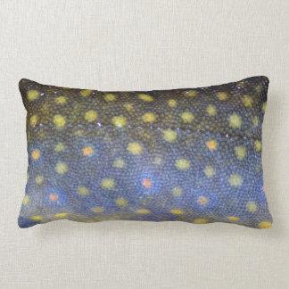 Brook Trout Scales Photography Lumbar Pillow