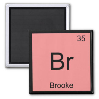 Brooke Name Chemistry Element Periodic Table Square Magnet