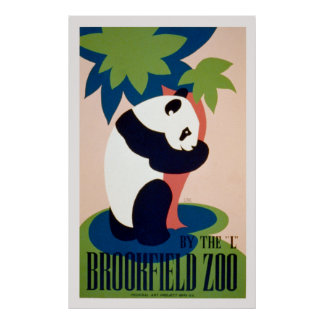 "Brookfield Zoo-By the ""L"" / Long. Poster"