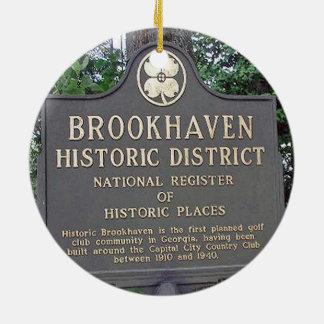 Brookhaven Atlanta, Double Sided Christmas Ornamen Ceramic Ornament