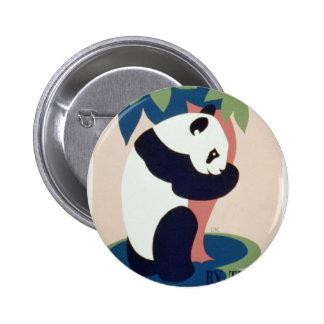 Brooklin Zoo Panda vintage button