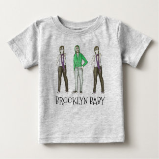 Brooklyn Baby NYC Williamsburg Hipster New York Baby T-Shirt