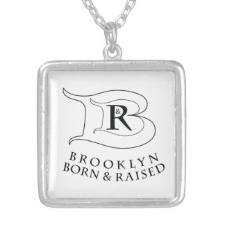 BROOKLYN BORN AND RAISED® LOGO SQUARE NECKLACE