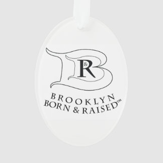 BROOKLYN BORN & RAISED LOGO ACRYLIC OVAL ORNAMENT