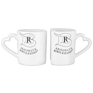 BROOKLYN BORN & RAISED LOGO COFFEE MUG SET