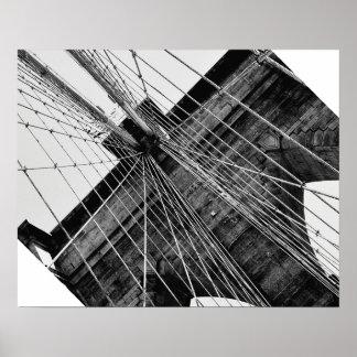 Brooklyn Bridge Abstract Poster