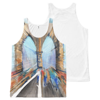 Brooklyn Bridge All-Over Print Singlet