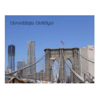 Brooklyn Bridge and Freedom Tower Postcard