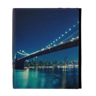 Brooklyn Bridge and Lower Manhattan at Night iPad Folio Cover
