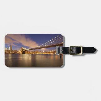 Brooklyn Bridge and Manhattan at Night. Bag Tags