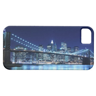 Brooklyn Bridge and Manhattan Skyline At Night iPhone 5 Cover