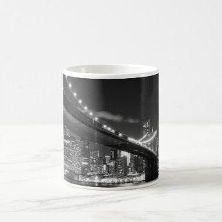 Brooklyn Bridge and Manhattan Skyline At Night Mug
