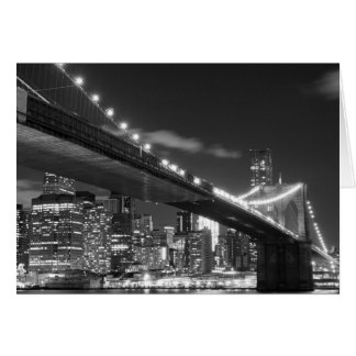 Brooklyn Bridge and Manhattan Skyline Card