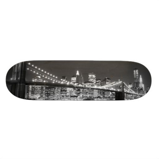 Brooklyn Bridge and Manhattan Skyline Skateboard Decks