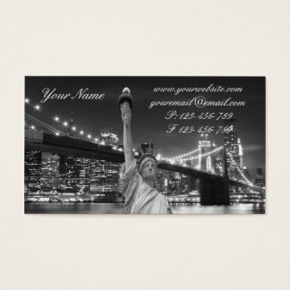 Brooklyn Bridge and The Statue of Liberty at Nigh Business Card