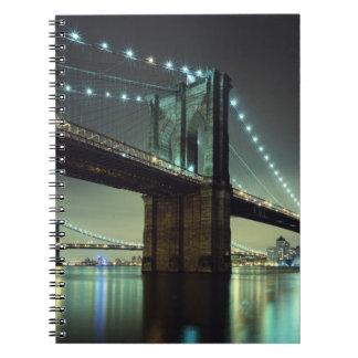 Brooklyn Bridge at night  Manhattan Bridge Note Books