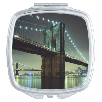Brooklyn Bridge at night  Manhattan Bridge Travel Mirrors