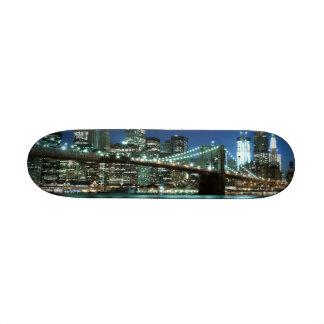 Brooklyn Bridge At Night, New York City 21.6 Cm Old School Skateboard Deck
