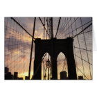Brooklyn Bridge at Sunset Card