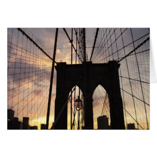 Brooklyn Bridge at Sunset Card