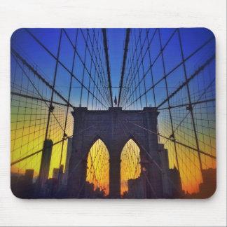 Brooklyn Bridge At Sunset Mouse Pad