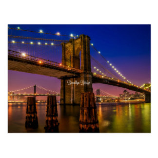 Brooklyn Bridge at Twilight Postcard
