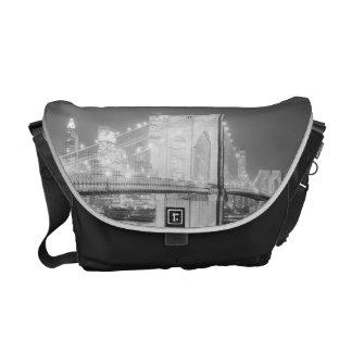 Brooklyn Bridge Black & White Messenger Bag