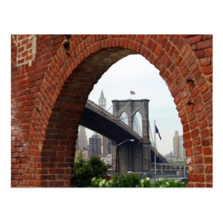 Brooklyn Bridge Brick Arch Postcard