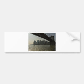 Brooklyn Bridge by boat Bumper Sticker