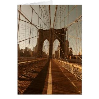 Brooklyn Bridge. Card