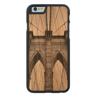 Brooklyn Bridge Closeup Architectural Detail Carved Cherry iPhone 6 Case