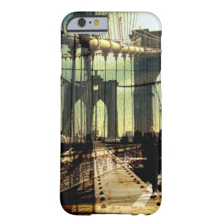 brooklyn bridge collage, NYC Barely There iPhone 6 Case