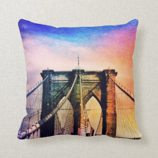 Brooklyn Bridge - Colorful - New York City Cushion
