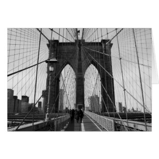 Brooklyn Bridge Crossing Note Card