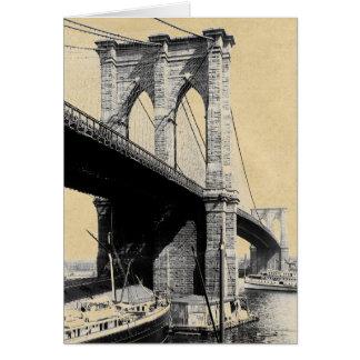 Brooklyn Bridge Ferry Boats 1896 Card